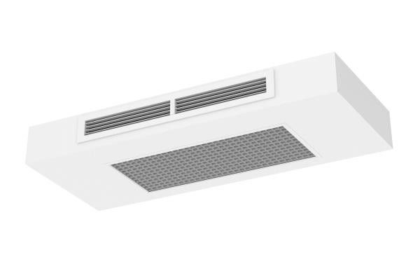 Horizontal Exposed Active Chilled Beam-Corner Mounted Beam